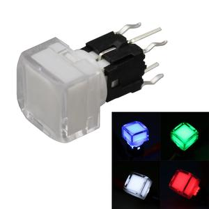 10Pcs TS5-2 Square Transparent Cover Led Light Momentary Push Button Switch SPST