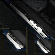 لرينو كادجار 2015 2016 2017 2018 2019 2020 صفائح لعتبة باب السيارة ترحيب دواسة الفولاذ المقاوم للصدأ اكسسوارات السيارات التصميم