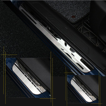 Para renault kadjar 2015 2016 2017 2018 2019 2020 peitoril da porta placa scuff pedal bem vindo aço inoxidável estilo do carro acessórios