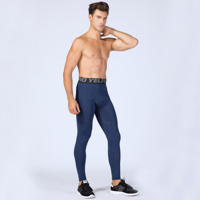 Men Fitness Leggings Compression Skin Skinny Pants Sports Gym Workout Long Pants