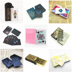 New 1 Deck Poker Creative Playing Cards Plastic Paper Board Game Blackjack Party Gifts L666