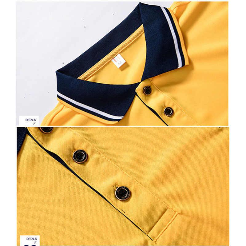 짧은 소매 폴로 셔츠 남자 폴로 셔츠 비즈니스 남자 높은 품질 탑 & 티셔츠 남자 자 수 턴 다운 collarclothes 남자 8XL