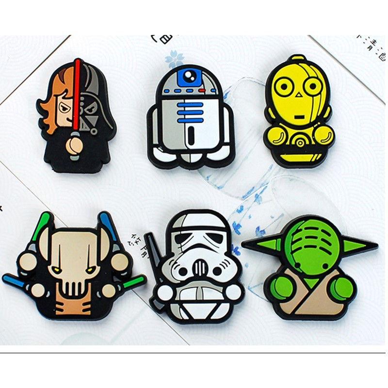 20pcs Kids 3D PVC Cute Baby Yoda Pop Hero Spiderman Patch for Keychain Hairpins Headwear Hair Accessories Brooch Pin Toy Patch