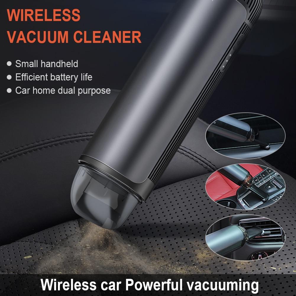 5200Pa 80W Mini el araba elektrikli süpürge kablosuz araba elektrikli süpürge elektrikli süpürge için yüksek güç ile ofis ev araba