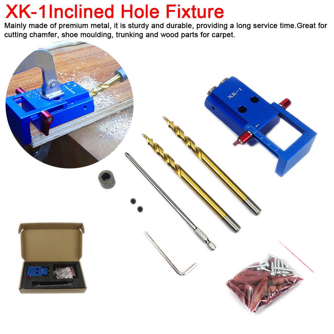 Pocket Hole Screw Jig Dowel Drill Corner Joint Board Angle Drill Locator