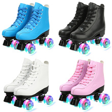 Skating-Shoes Roller-Sneakers Sliding Training Women 4-Wheels Pu 4-Choice Microfiber