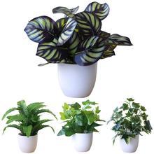 Искусственное лиственное растение искусственный бонсаи вечерние торговый центр рынок настольный офис отель садовый декор украшения дома
