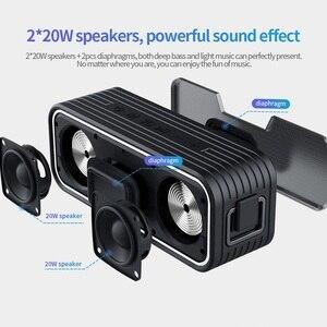 Image 3 - NILLKIN Bluetooth Lautsprecher, 40W power IPX7 Wasserdichte lautsprecher Bluetooth 5,0 Drahtlose Lautsprecher mit Tri Bass Effekte, 15 stunde