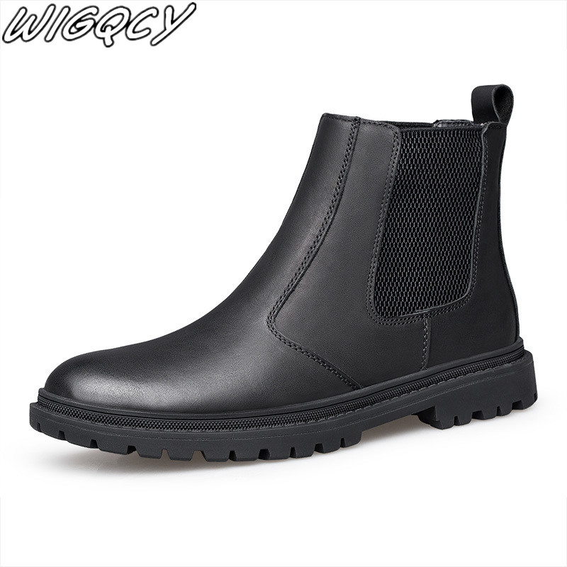Men Rain boots man Chelsea boots male Ankle boots men Casual Boots Men rubber rain shoes Waterproof Best-selling style classic image