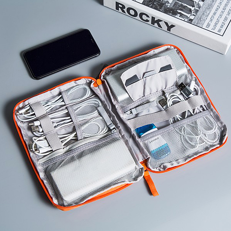 Portable Travel Digital Bag Wearable Mobile Power Data Cable Earplugs Pack Multifunctional Trip Storage Box Accessories Supplies