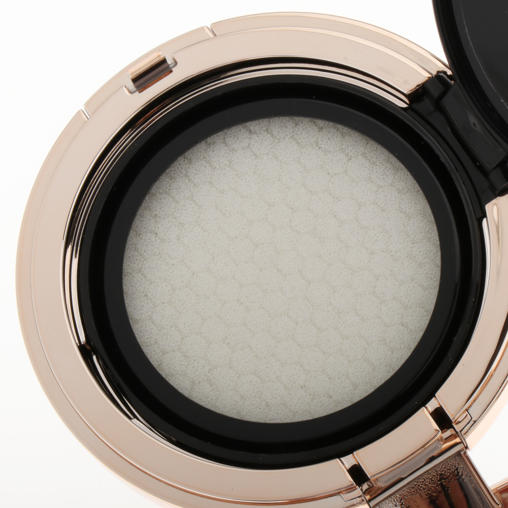 Pink Empty Air Cushion Puff Case Powder Container Cosmetic Concealer BB CC Cream Compact Box with Mirror