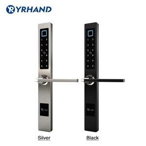 Image 2 - Impermeabile Stile Europeo Bluetooth di impronte digitali di accesso elettronico Intelligente serratura della porta Per Porta di Vetro di Alluminio