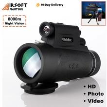 Long Range 8000m Monocular 100X90 Telescope Low-light Night Vision HD Telescope for Smartphone Outdoor Hunting Optics Scope