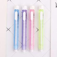 Eraser Rubber Stationery Pen-Shape Mechanical School-Supplies Retractable Kids Student