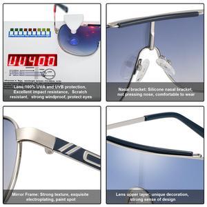 Image 5 - FENCHI NEW Windbreak Men Sunglasses Women Driving Blue Oversized Female Sun Glasses Goggles Zonnebril Dames Oculos Feminino