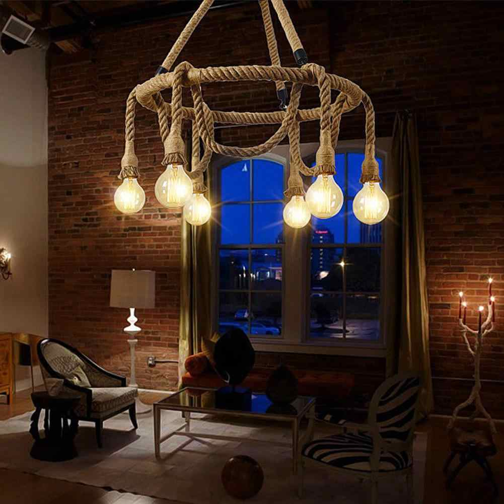 1/1.5m Textile Cable Vintage Decorative Lamp Hemp Rope Holder Vintage Electric Cord Wire DIY Pendant Garland String Lights Base