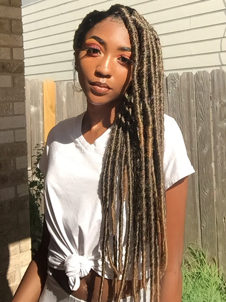 Braids Hair Hair-Extensions Crochet Knotless Faux-Locs Synthetic Dreadlocks Jumbo Dreads