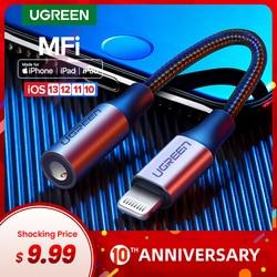 Ugreen MFi Lightning a 3,5mm adaptador para auriculares para iPhone 11 Pro 8 7 Aux 3,5mm Jack Cable para adaptador de rayo Accesorios