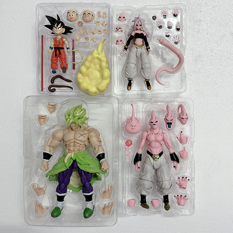 SH Figuarts SHF Dragon Ball Figure Anime Majin Buu Android NO.21 Vegeta Trunks Super Saiyan Son Gokou Goku Action Figures Toy