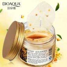 80pcs/lot BIOAQUA Brand Golden Osmanthus Collagen Eye Mask Moisturizing Relax Patches Dark Circle Remover Eyemask Care