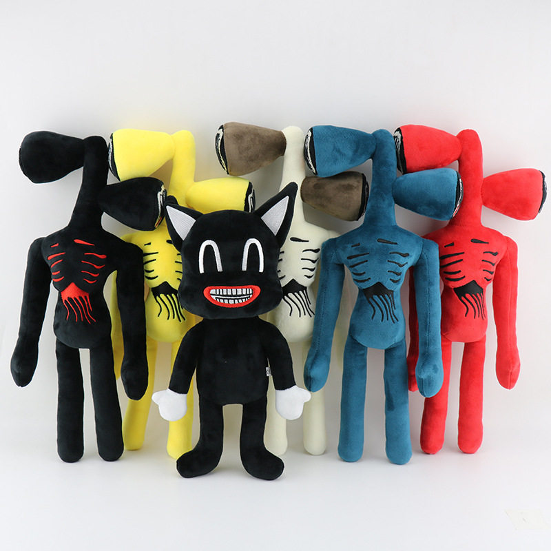 40cm Siren Head Plush Figure Toy Soft Stuffed Horror Doll Kids Christmas Gift qi