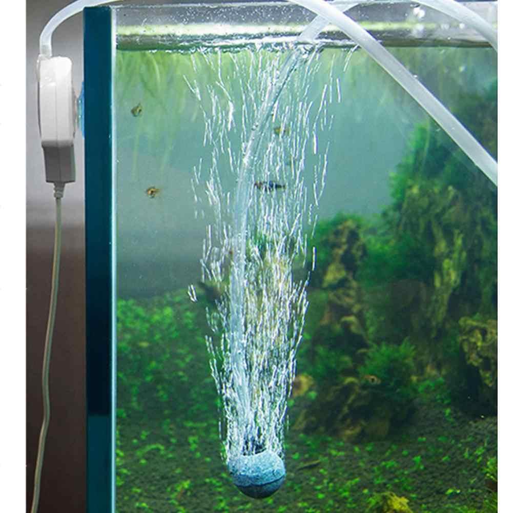 Mini Luchtpomp Hangen Sucker Tank Tafel Toename Zuurstof Pomp Mute Lage Geluid Luchtcompressor Bubble Stone Bubble Voor Aquarium