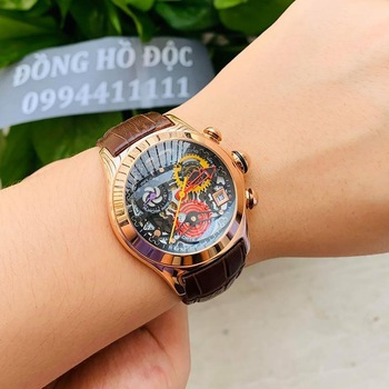2021 Reef Tiger/RT Women Fashion Watches Swiss Ronda Movement Skeleton Watches Rose Gold Watches Date RGA7181 1