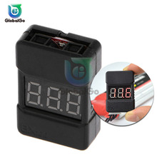 цена на Lipo Battery Voltage Tester Low Voltage Buzzer Alarm Battery Voltage Checker with Dual Speakers BX100 1-8S 1S-8S