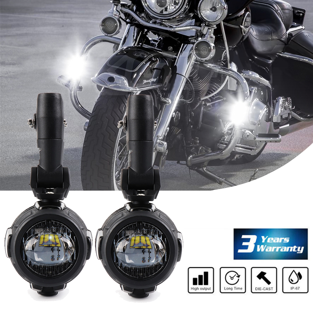 Motorcycle 2x LED Auxiliary Fog Light Assemblie Driving Lamp 40W Motorcycle For BMW R1200GSA R 1200 GS F800GS F700GS 2013-2016