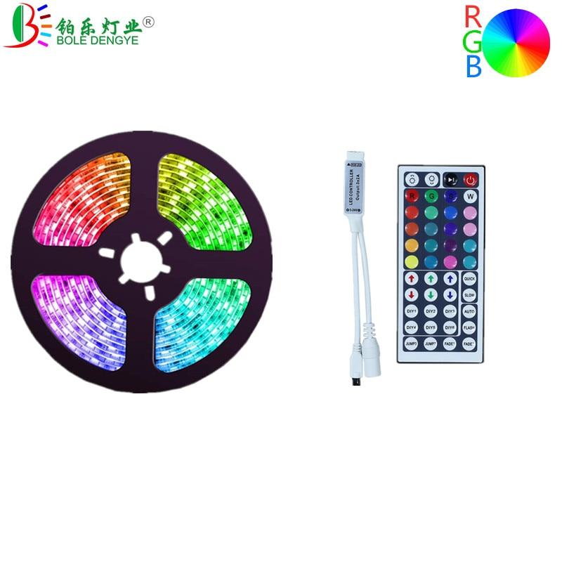 Гибкая светодиодная RGB лента SMD 5050, 12 в постоянного тока, 5 м, 10 м, 15 м, многоцветсветодиодный светодиодная лента, 30 светодисветодиодный, s/m, 60 св...
