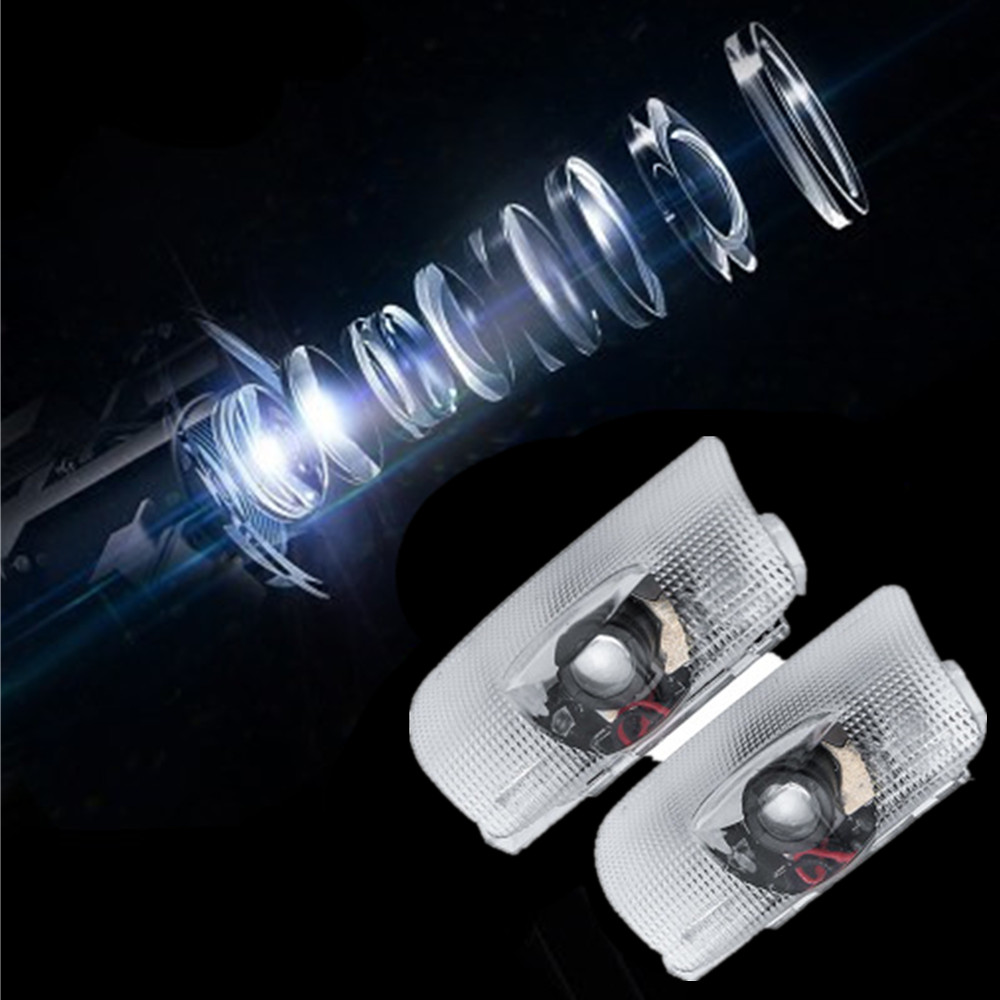 2x LED Logo Projector Car Welcome Door Light For Toyota Camry 4 Runner Avalon Highlander Land Cruiser Prius Sequoia Venza Tundra