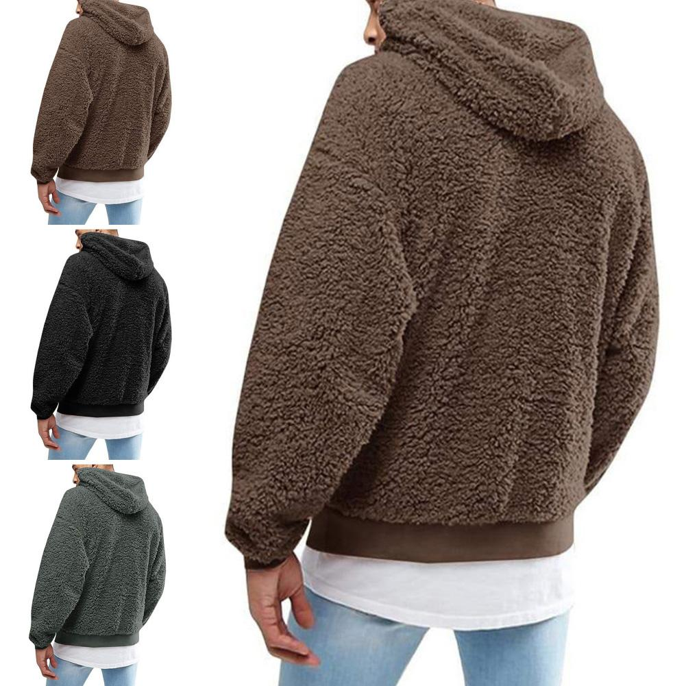 Warm Fluffy Hoodie Pullover Fleece Sweatshirt Hooded Coat  Jumper Autumn Winter Clothes