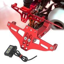 Motorcycle Verstelbare Hoek Licentie Nummerplaat Frame Houder Beugel Voor Ducati M400 M900 Monster M900 M1100S GT1000 MTS1100