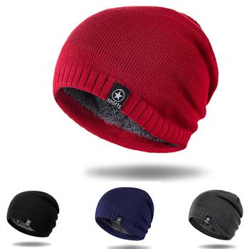 Dzianiny Unisex czapki czapki zimowe dla mężczyzn oddychające czapki zimowe dla kobiet ciepła jednokolorowa na co dzień płaszcze czapki Unisex hedging czapki tanie i dobre opinie COTTON Dla dorosłych List Skullies czapki