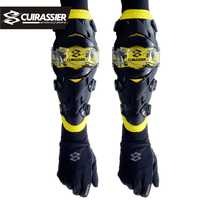 Protector de codo de motocicleta Cuirassier rodillera protectores de rodilla Motocross Downhill Dirt Bike MX protección todoterreno coderas de carreras
