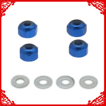 Aluminum Wheel Lock Nut With Gasket For Rc Hobby Model Car 1/14 Lc Racing Full Series HM6047 Nut Wheel Hopup Parts image