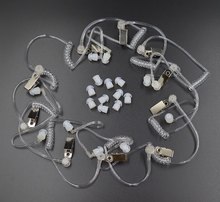 10 قطعة سرية الصوتية أنبوب الأذن برعم لموتورولا Baofeng راديو محمول سماعة سماعة
