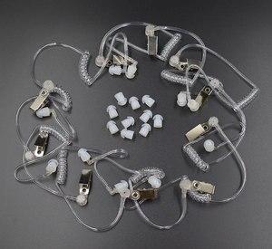 Image 1 - 10 Chiếc Covert Acoustic Ống + Tai Cho Motorola Bộ Đàm Baofeng Di Động Phát Thanh Tai Nghe Tai Nghe Tai Nghe Chụp Tai