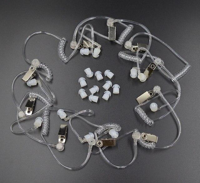 10 Chiếc Covert Acoustic Ống + Tai Cho Motorola Bộ Đàm Baofeng Di Động Phát Thanh Tai Nghe Tai Nghe Tai Nghe Chụp Tai