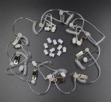 10 個隠密音響管 + 耳の芽モトローラ baofeng ポータブルラジオイヤホンヘッドセットイヤホン