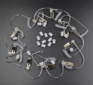Image 1 - 10Pcs Covert Acoustic Tube + Ear Bud for Motorola Baofeng Portable Radio Earpiece Headset Earphone