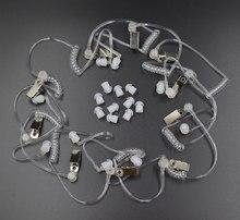 10Pcs Covert Akoestische Buis + Ear Bud Voor Motorola Baofeng Draagbare Radio Oortelefoon Headset Oortelefoon