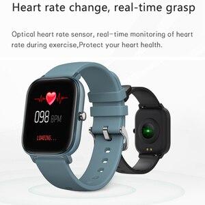 Image 4 - LYKRY 2020 akıllı saat P8 erkekler kadınlar 1.4 inç tam dokunmatik ekran spor izci nabız monitörü IP67 su geçirmez GTS spor bandı