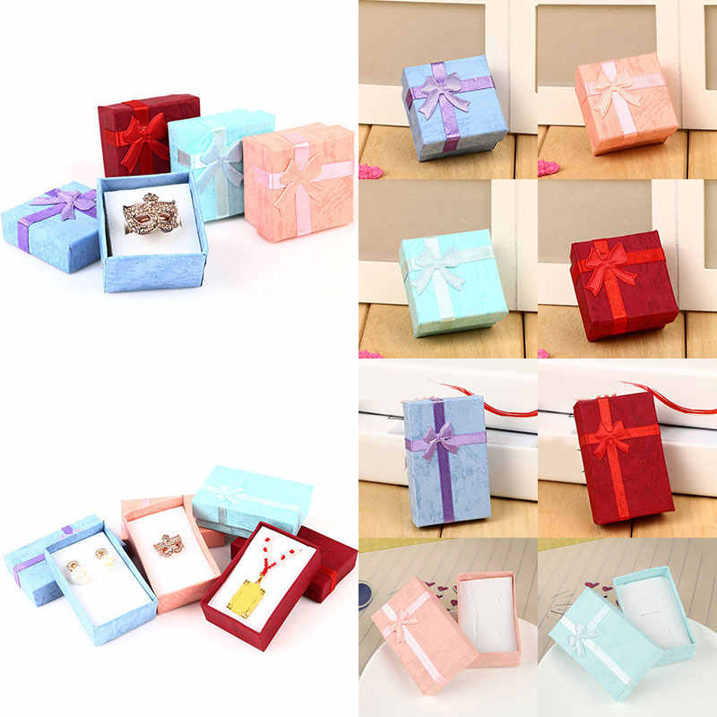 Christmas Jewelry Gift Boxes Ring Stud Earrings Necklaces Set Box Jewelry Gift Jewelry Packaging Tray  Women Gifts Gift Boxes