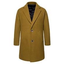Men's Medium-length Wool Overcoat Fabric Coat Men's Wool Overcoat Men's Clothing Winter Coat Men Coats for Men Abrigos Hombre