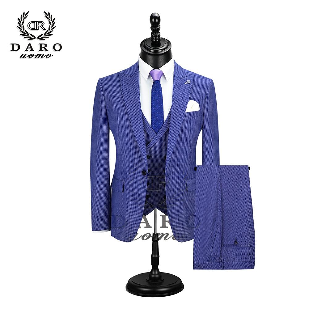 Wonderful Groom Male Wedding Prom Suit Slim Fit Tuxedo Men Formal Business Work Wear Suits 3Pcs Set (Jacket+Pants+Vest)DR8902