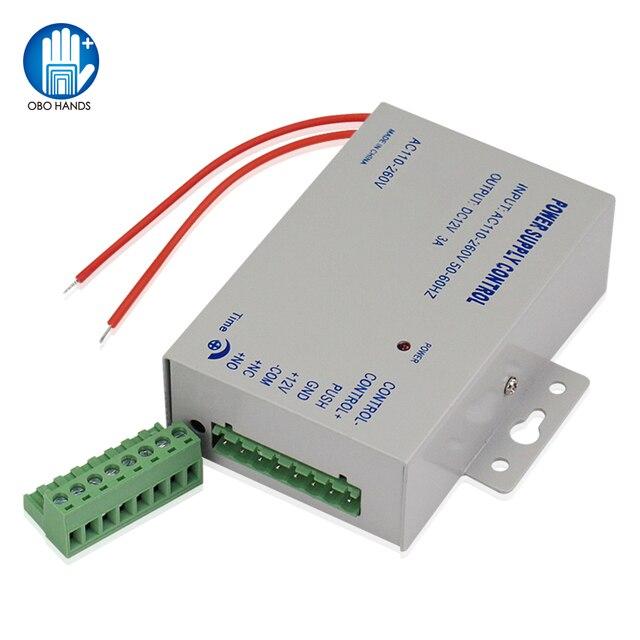 Dostęp do kontrola mocy dostaw DC12V/3A wyjście 110 260VAC napięcie wejściowe z z opóźnieniem czasowym dla zamek elektroniczny wideodomofon K80
