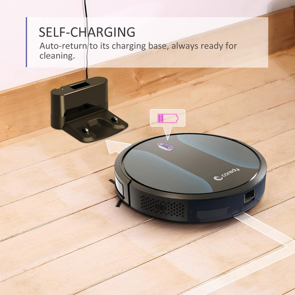 Coredy R500+ 1400PA Sauber Roboter staubsauger Automatische Staub Boden Teppich Reinigung Smart Nass Mopp Sweep Robotic vakuum für home - 6