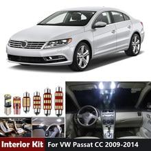 12Pcs Canbus bianco Led Car Light Blubs Kit luci interne per VW Passat CC 2009- 2013 2014 Dome Map Trunk Vanity Mirror Lamp
