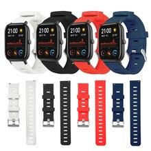 20mm Handgelenk Gurt Für Amazfit GTS BIP Smart Uhr Band 22mm Silikon Armband Für Xiaomi Huami Amazfit GTR 47mm/Stratos/Tempo